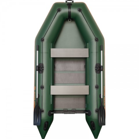 Надувная лодка Kolibri KM-300 зеленая + слань-коврик
