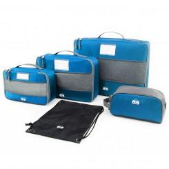Набор сумок-органайзеров для одежды и косметики, голубой цвет