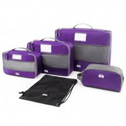 Набор сумок-органайзеров для одежды и косметики, фиолетовый цвет
