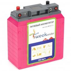 Литий-ионный аккумулятор Weekender 12V 100Ah с зарядным устройством