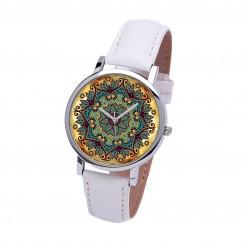 Наручные часы TIA Бохо дизайн, белый ремешок, серебристый корпус