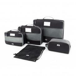 Набор сумок-органайзеров для одежды и косметики, черный цвет