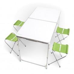 Стол складной Кемпинг XN-12064 + 4 стула